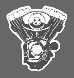 vintage motorbike engine vector image vector image