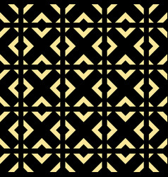 Abstract art deco golden geometric ornament vector