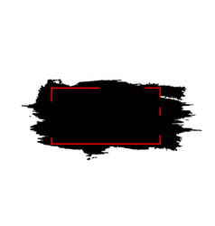 abstract red and black design frame template vector image