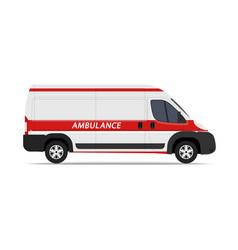 Ambulance car on white vector