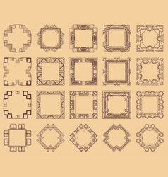 art deco frames set vector image