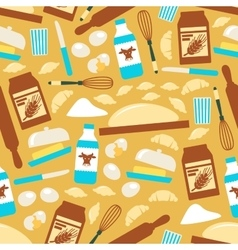 Baking and cooking tools seamless pattern vector image
