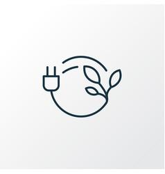 bio energy icon line symbol premium quality vector image