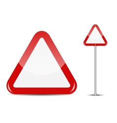 Blank Traffic Sign isolated on white background vector image