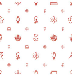 Blossom icons pattern seamless white background vector