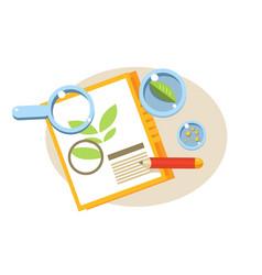 botanical paper education design vector image