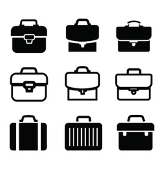 briefcase icons vector image