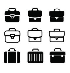 Briefcase icons vector