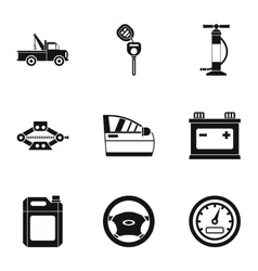 Car repairs icons set simple style vector