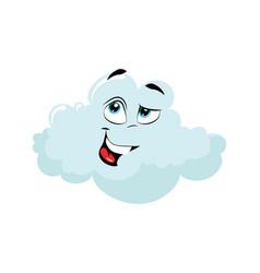cartoon cloud with a face vector image