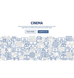 Cinema banner design vector