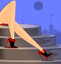 City and feet vector