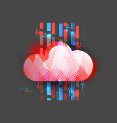 Cloud computing status scene vector