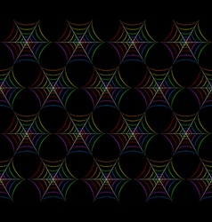 Colorful spider web pattern vector