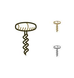 Corkscrews icon vector