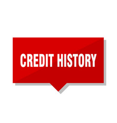 Credit history red tag vector