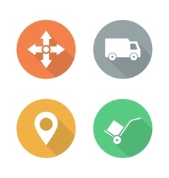 Delivery service flat design icons set vector
