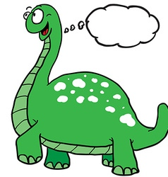Dinosaur with thought bubble vector