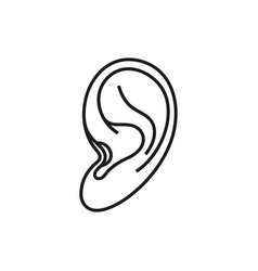 ear icon on white background vector image