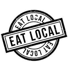 Eat local rubber stamp vector