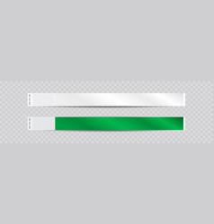 empty paper or tyvek bracelet or wristband sticky vector image