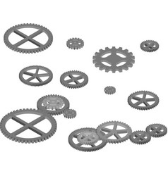 Engine gears for industrial design vector