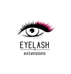 eyelash extension logo female eye with vector image