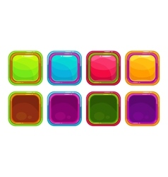 Fancy colorful bright buttons vector