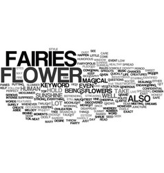 flower fairies text background word cloud concept vector image