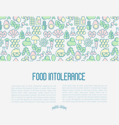 food intolerance concept with thin line icons vector image