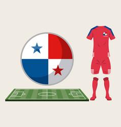 Football panama sport wear vector