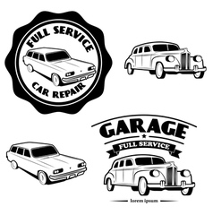 full car service vector image