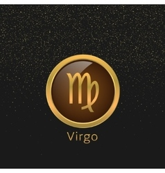 Golden Virgo sign vector