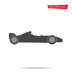 Gray formula car icon isolated on background mode vector