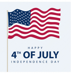greeting card for celebration independence day vector image