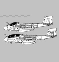 Grumman ea-6 prowler vector