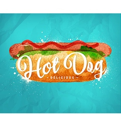 Hot dog color vector