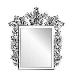 imperial baroque mirror frame french vector image