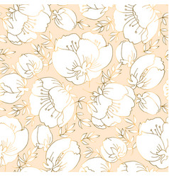 ivory and beige luxury floral seamless pattern vector image