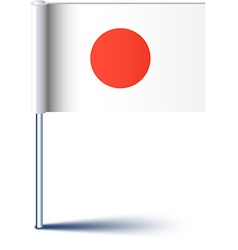 Japanese flag vector image