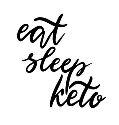 Keto lettering inscription phrase vector