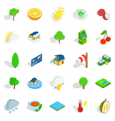Life asserting icons set isometric style vector