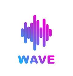 logo sound wave equalizer vector image