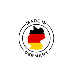 made in germany label icon of german flag map vector image
