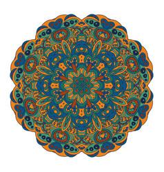 Mandala eastern pattern zentangl round ornament vector