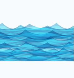 Marine background with stylized blue waves vector