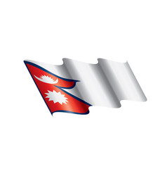 nepal flag on a white vector image