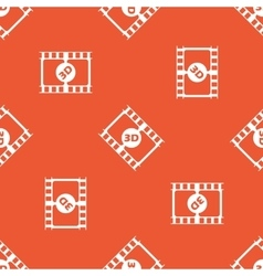 Orange 3D movie pattern vector