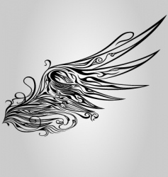 ornamental wing vector image vector image