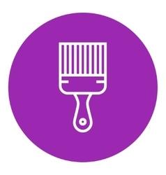 Paintbrush line icon vector image